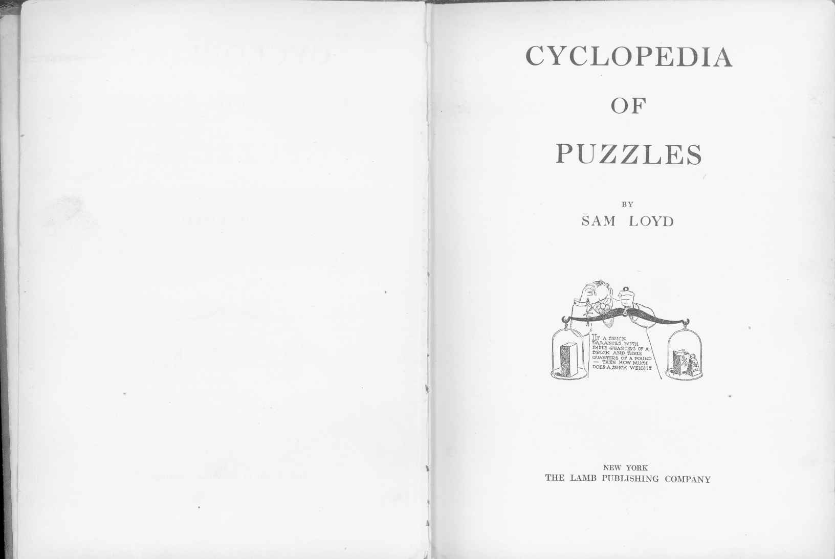 Sam Loyd - Cyclopedia of Puzzles - page 2-3
