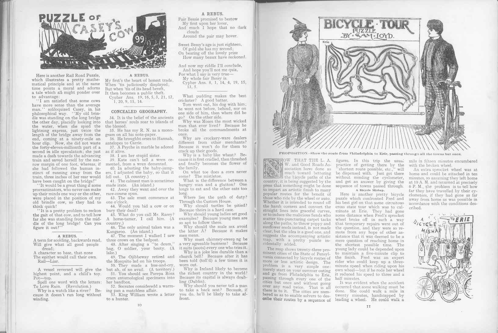 Sam Loyd - Cyclopedia of Puzzles - page 10-11