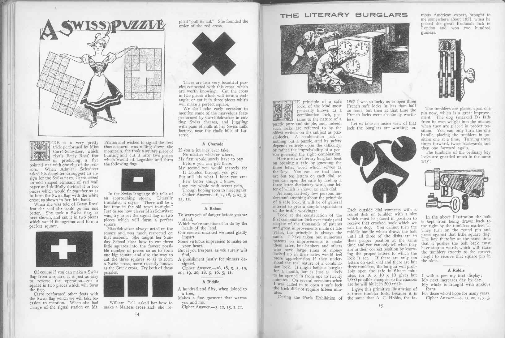 Sam Loyd - Cyclopedia of Puzzles - page 14-15