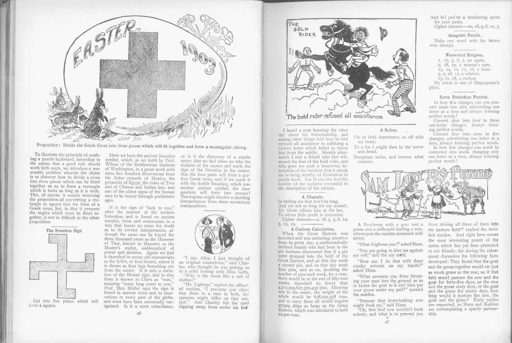 Sam Loyd - Cyclopedia of Puzzles - page 46-47