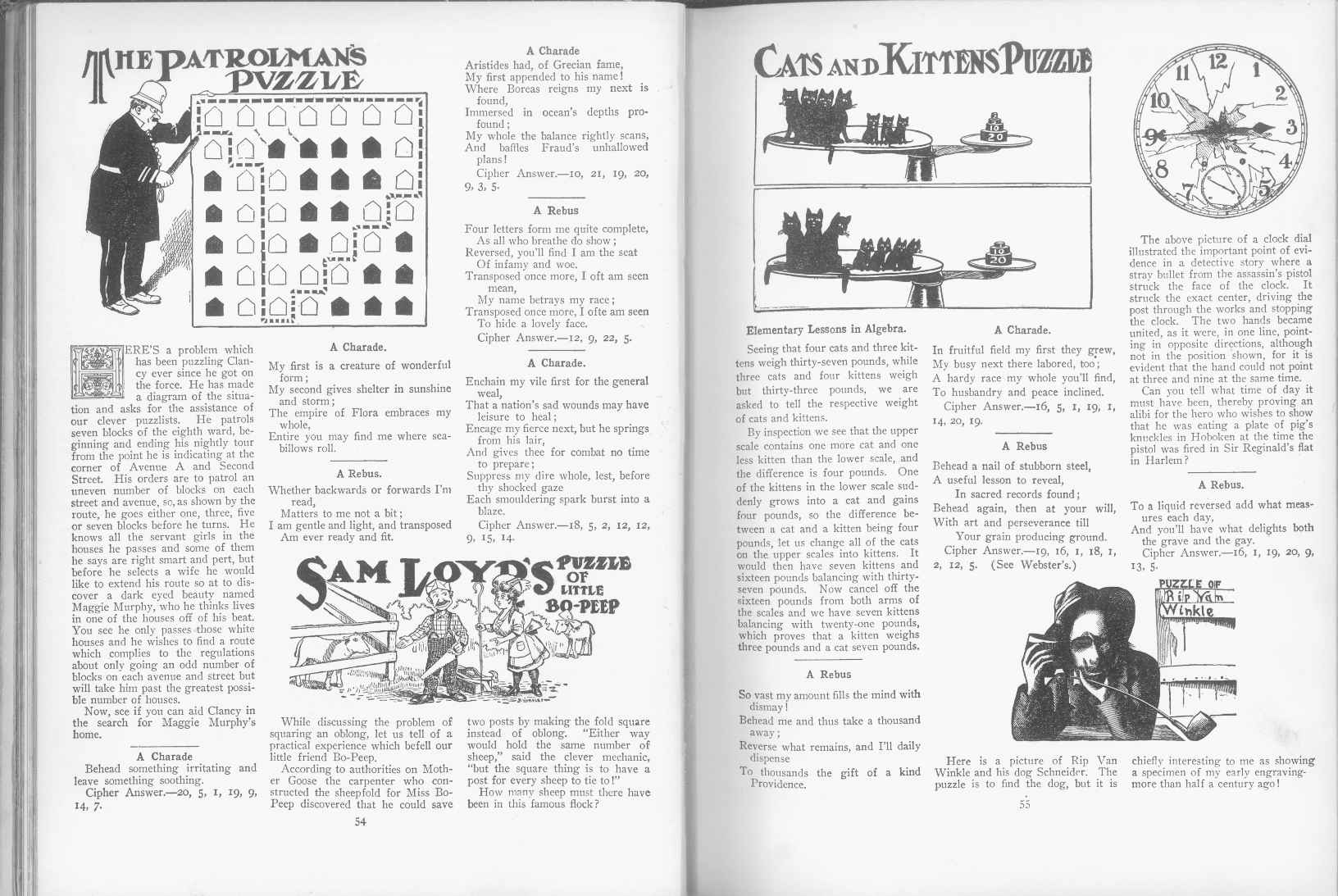 Sam Loyd - Cyclopedia of Puzzles - page 54-55