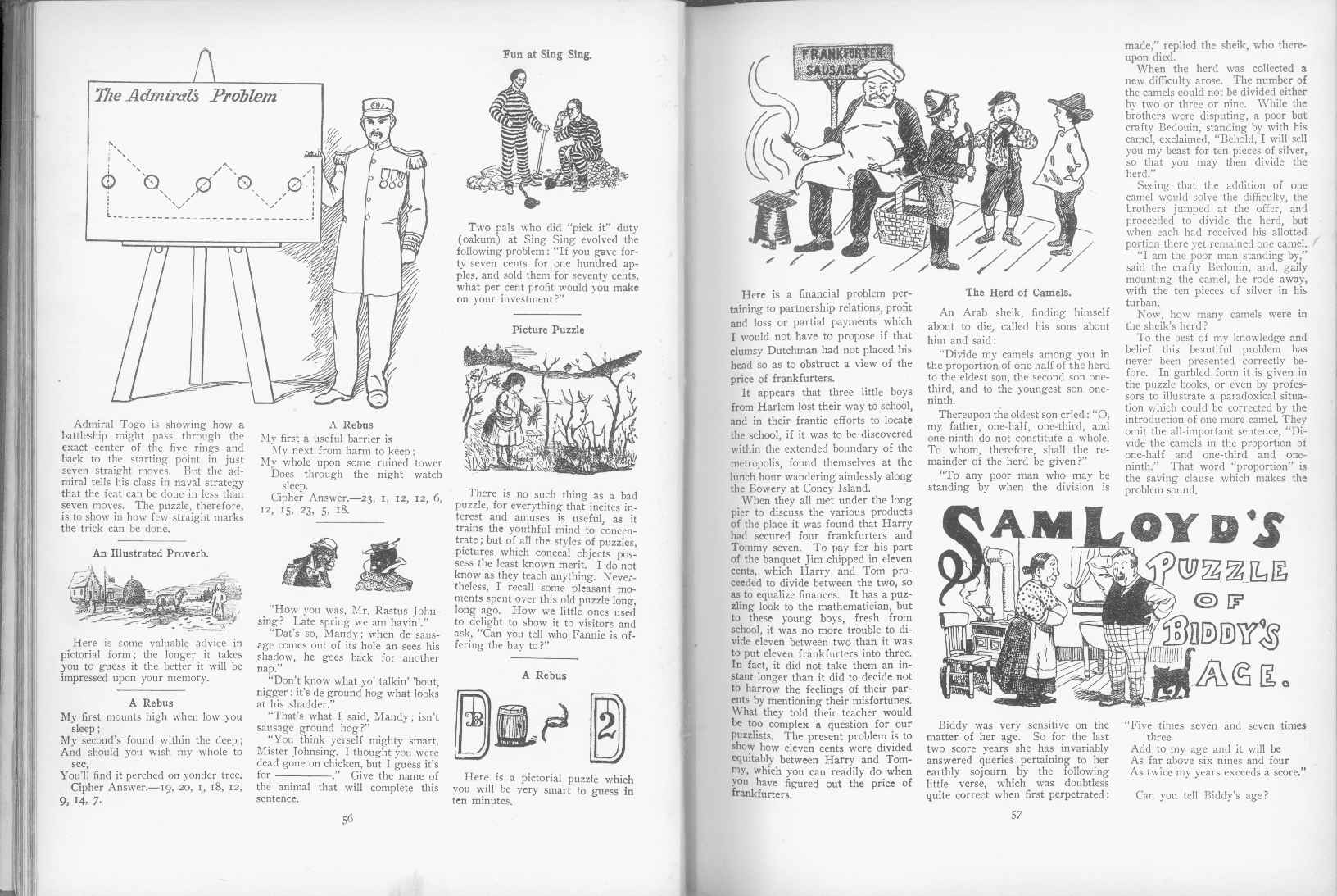 Sam Loyd - Cyclopedia of Puzzles - page 56-57