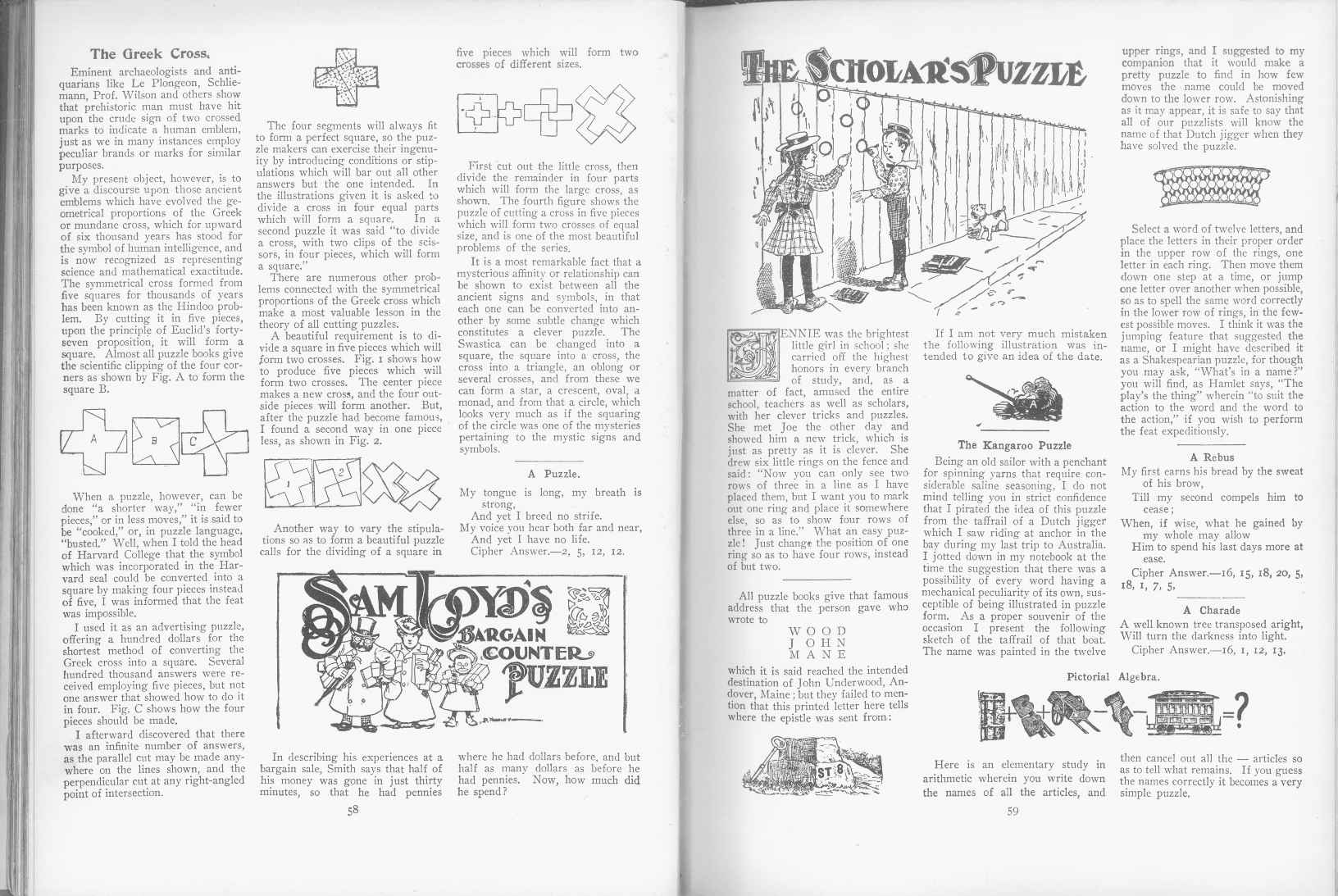 Sam Loyd - Cyclopedia of Puzzles - page 58-59