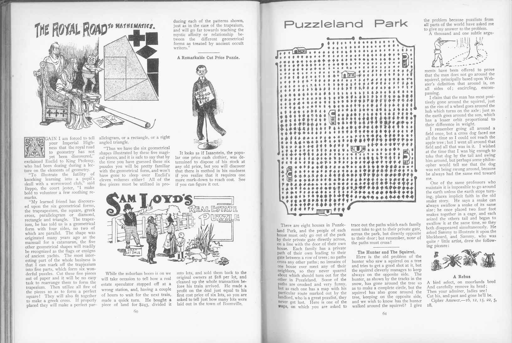 Sam Loyd - Cyclopedia of Puzzles - page 60-61