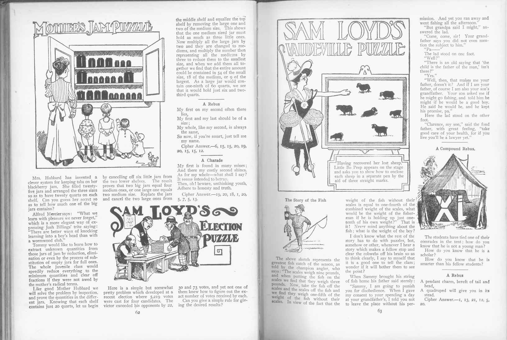 Sam Loyd - Cyclopedia of Puzzles - page 62-63