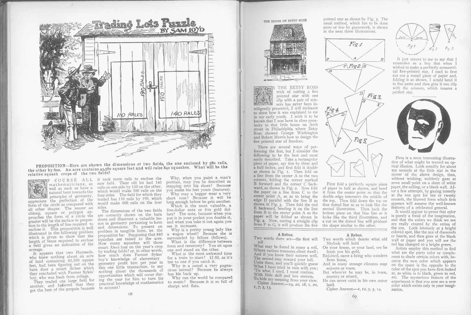 Sam Loyd - Cyclopedia of Puzzles - page 68-69