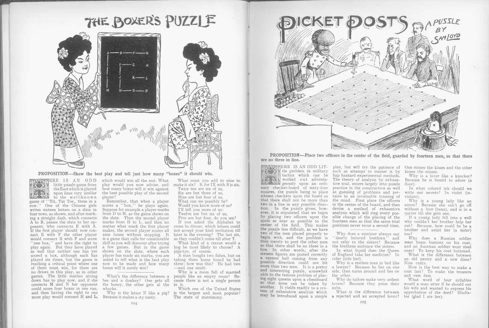 Sam Loyd - Cyclopedia of Puzzles - page 104-105