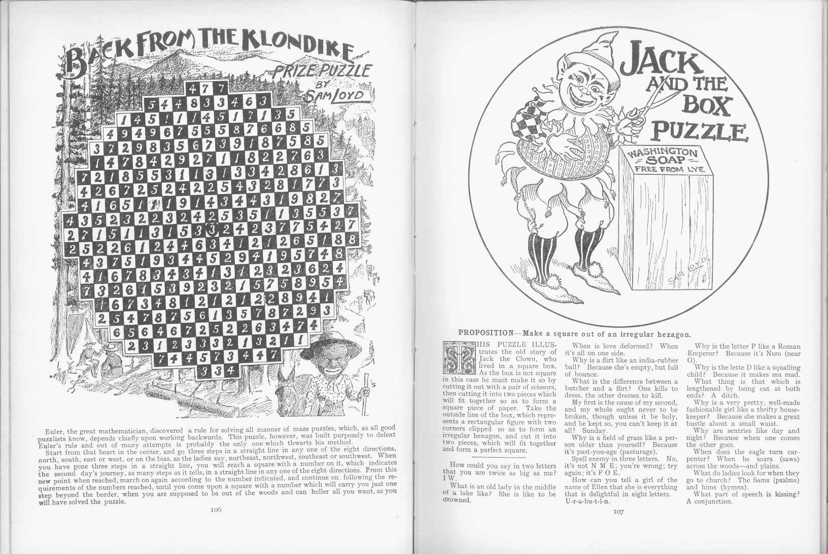 Sam Loyd - Cyclopedia of Puzzles - page 106-107