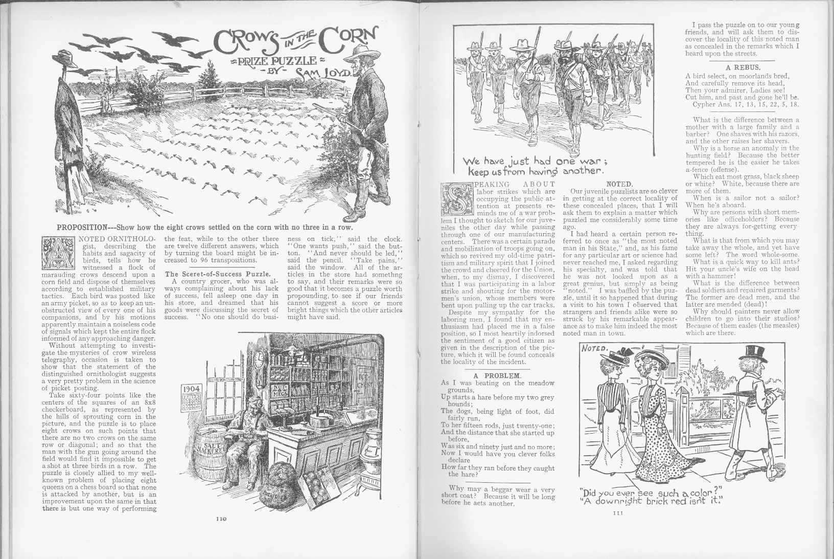 Sam Loyd - Cyclopedia of Puzzles - page 110-111