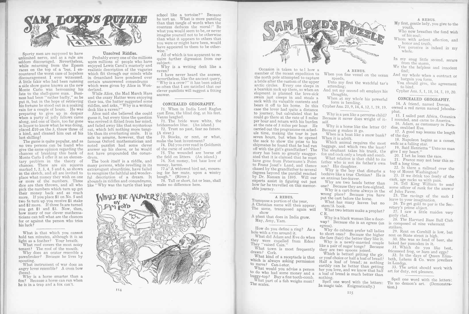 Sam Loyd - Cyclopedia of Puzzles - page 114-115