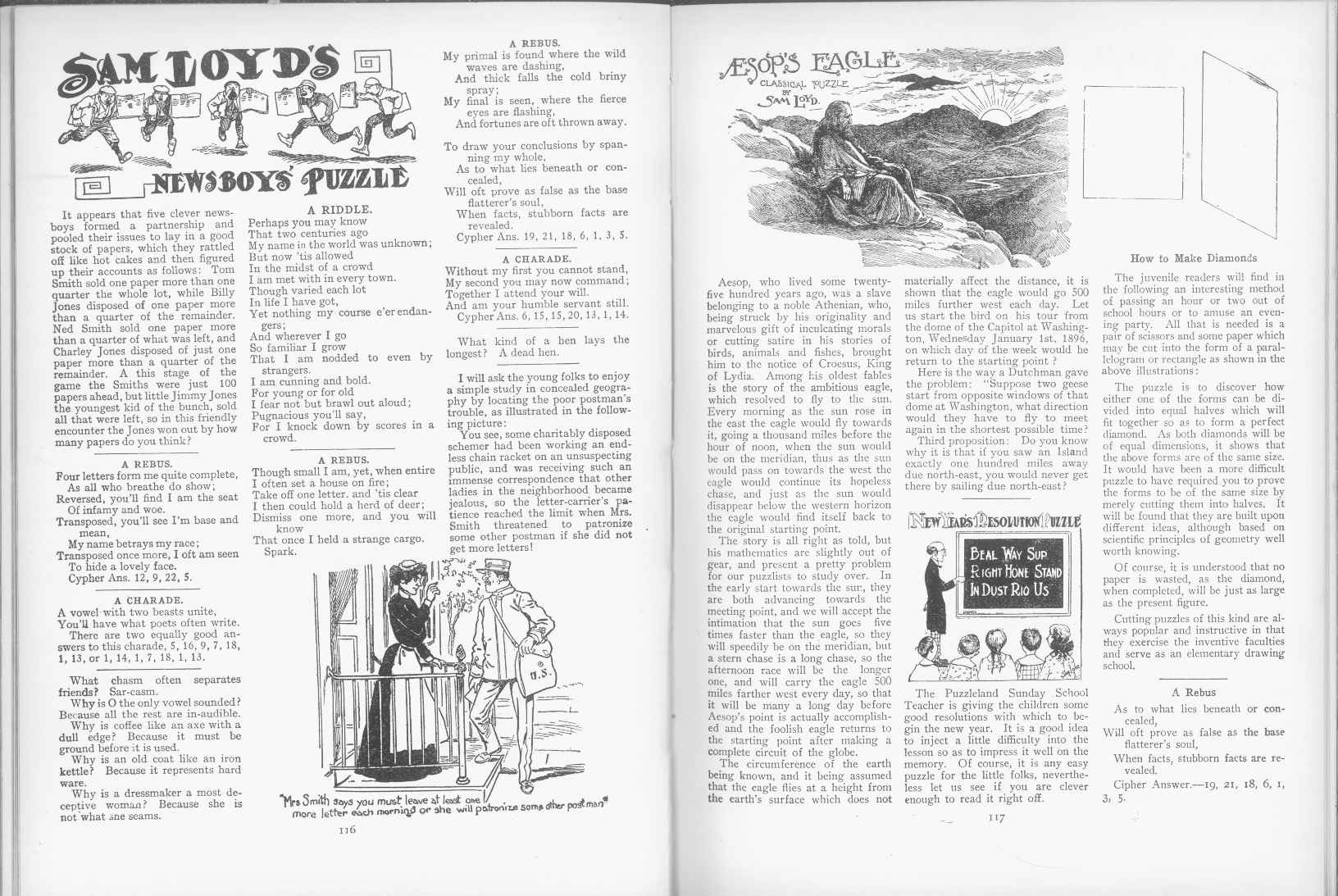 Sam Loyd - Cyclopedia of Puzzles - page 116-117