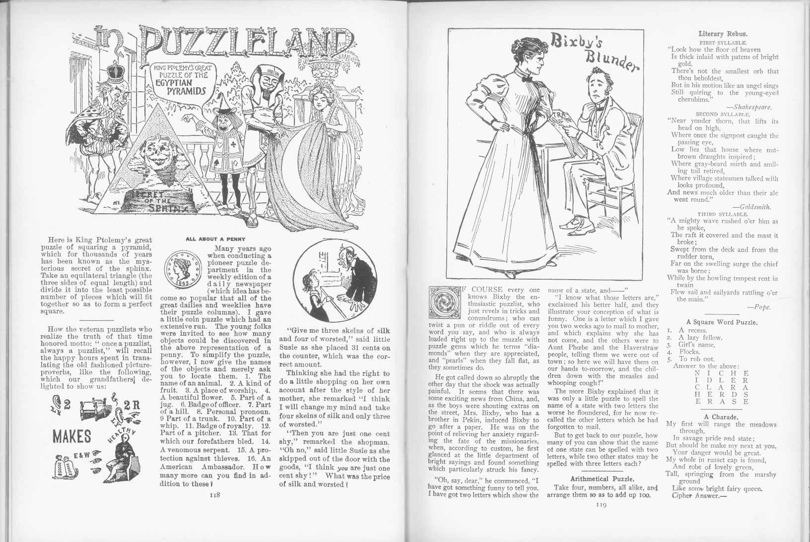 Sam Loyd - Cyclopedia of Puzzles - page 118-119