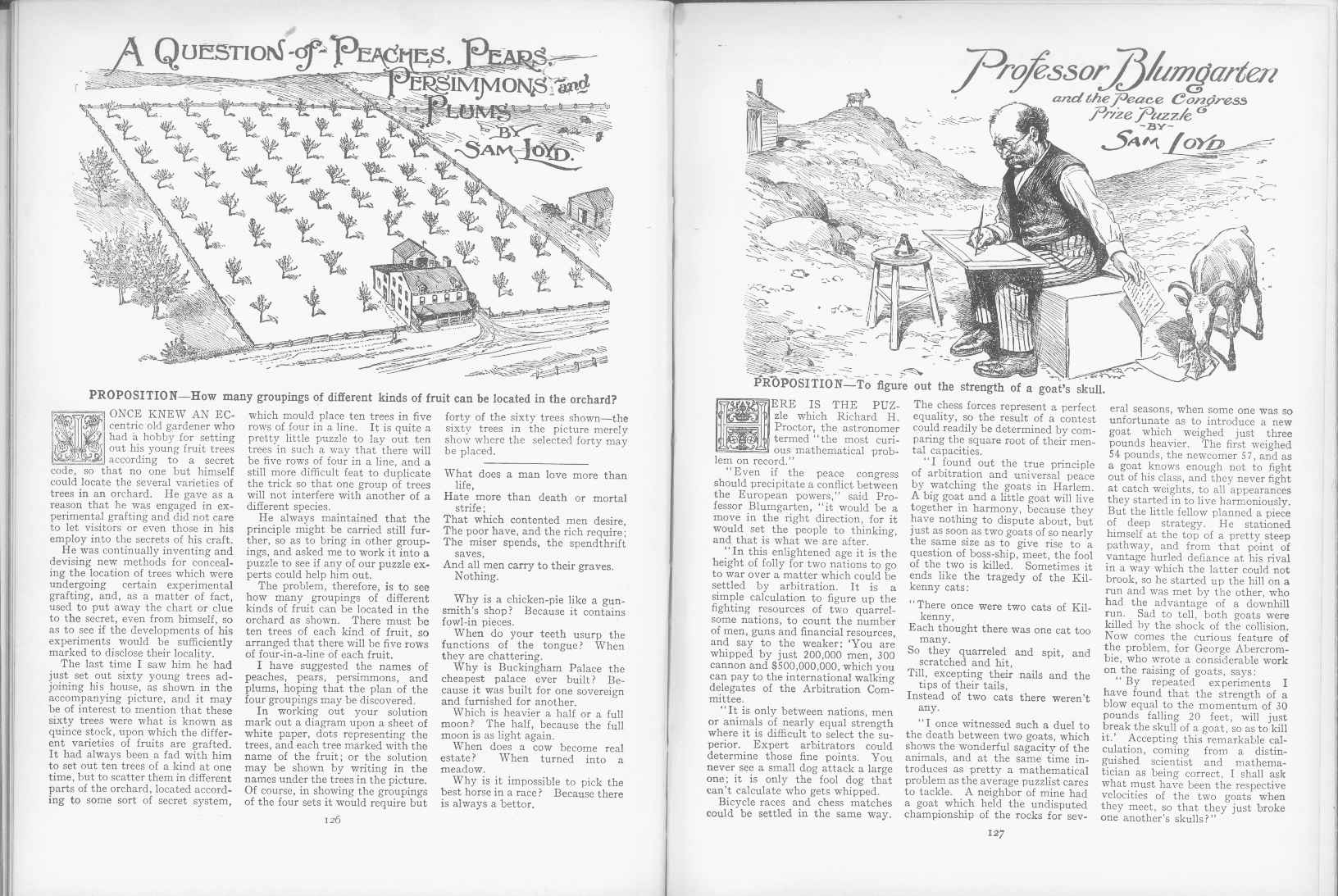 Sam Loyd - Cyclopedia of Puzzles - page 126-127