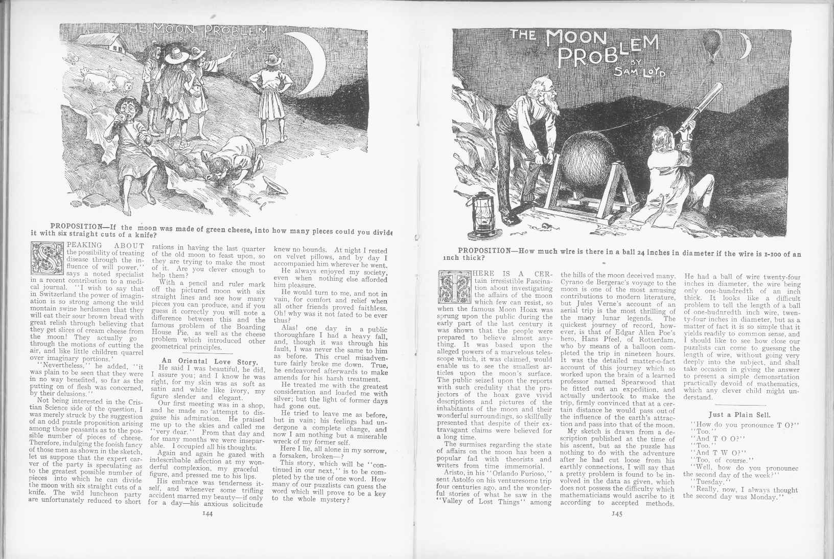 Sam Loyd - Cyclopedia of Puzzles - page 144-145