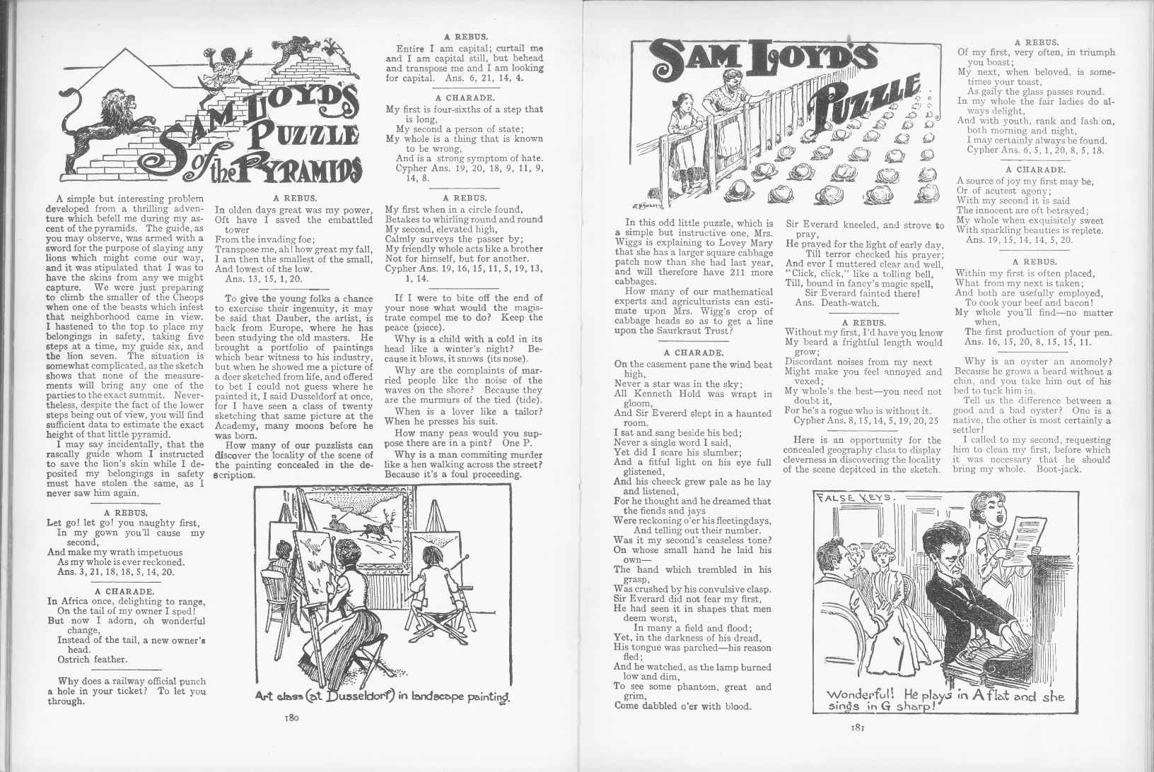 Sam Loyd - Cyclopedia of Puzzles - page 180-181