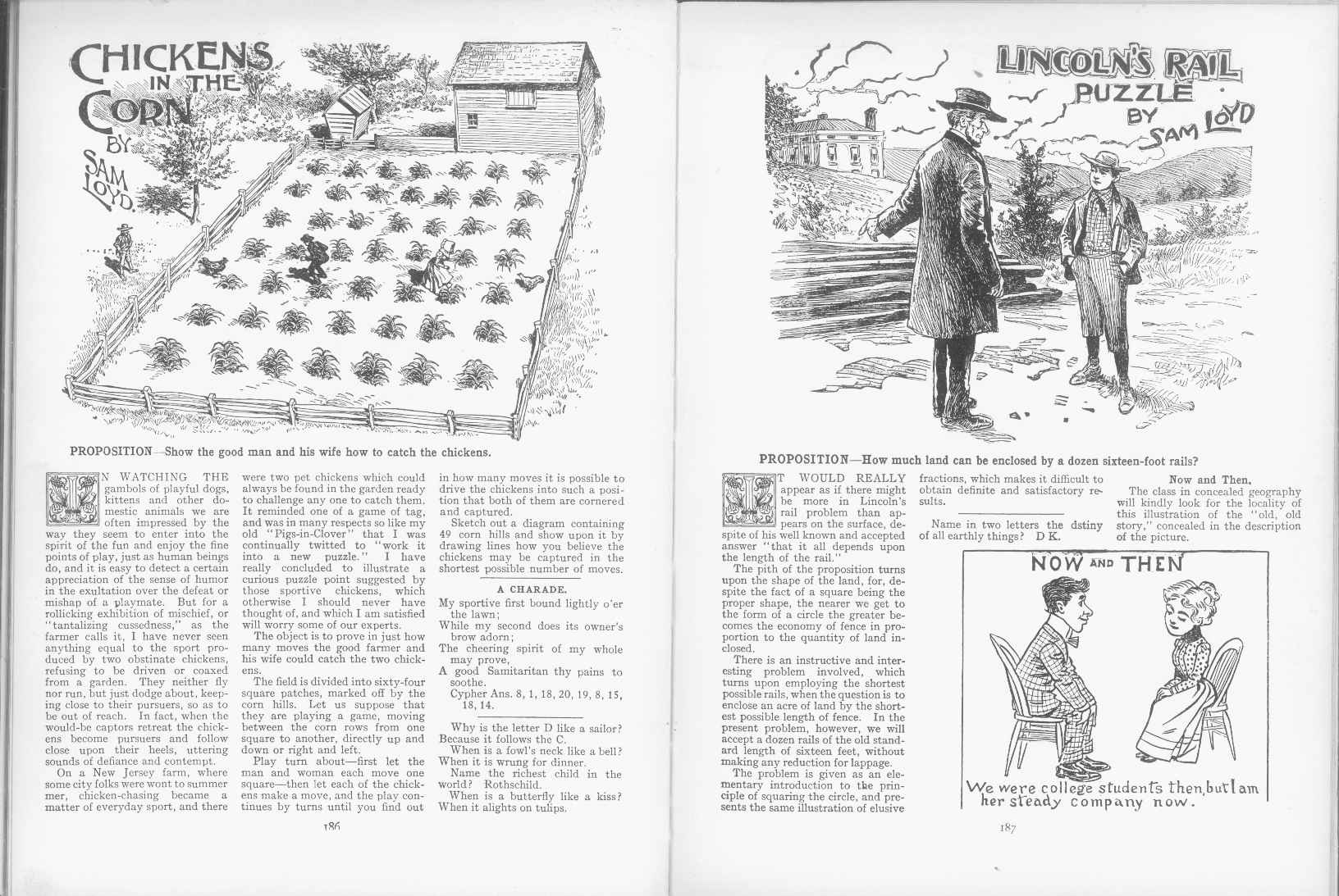 Sam Loyd - Cyclopedia of Puzzles - page 186-187