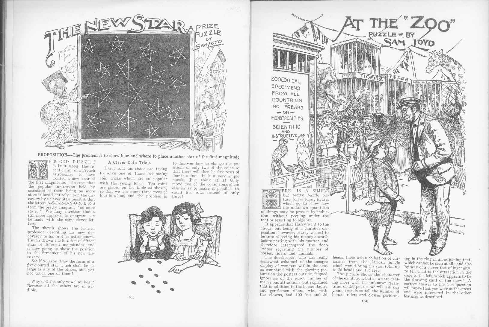 Sam Loyd - Cyclopedia of Puzzles - page 194-195