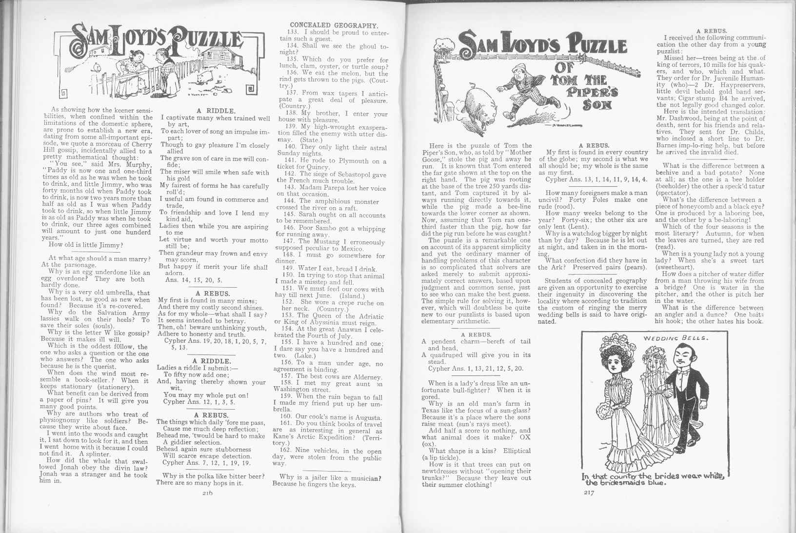 Sam Loyd - Cyclopedia of Puzzles - page 216-217