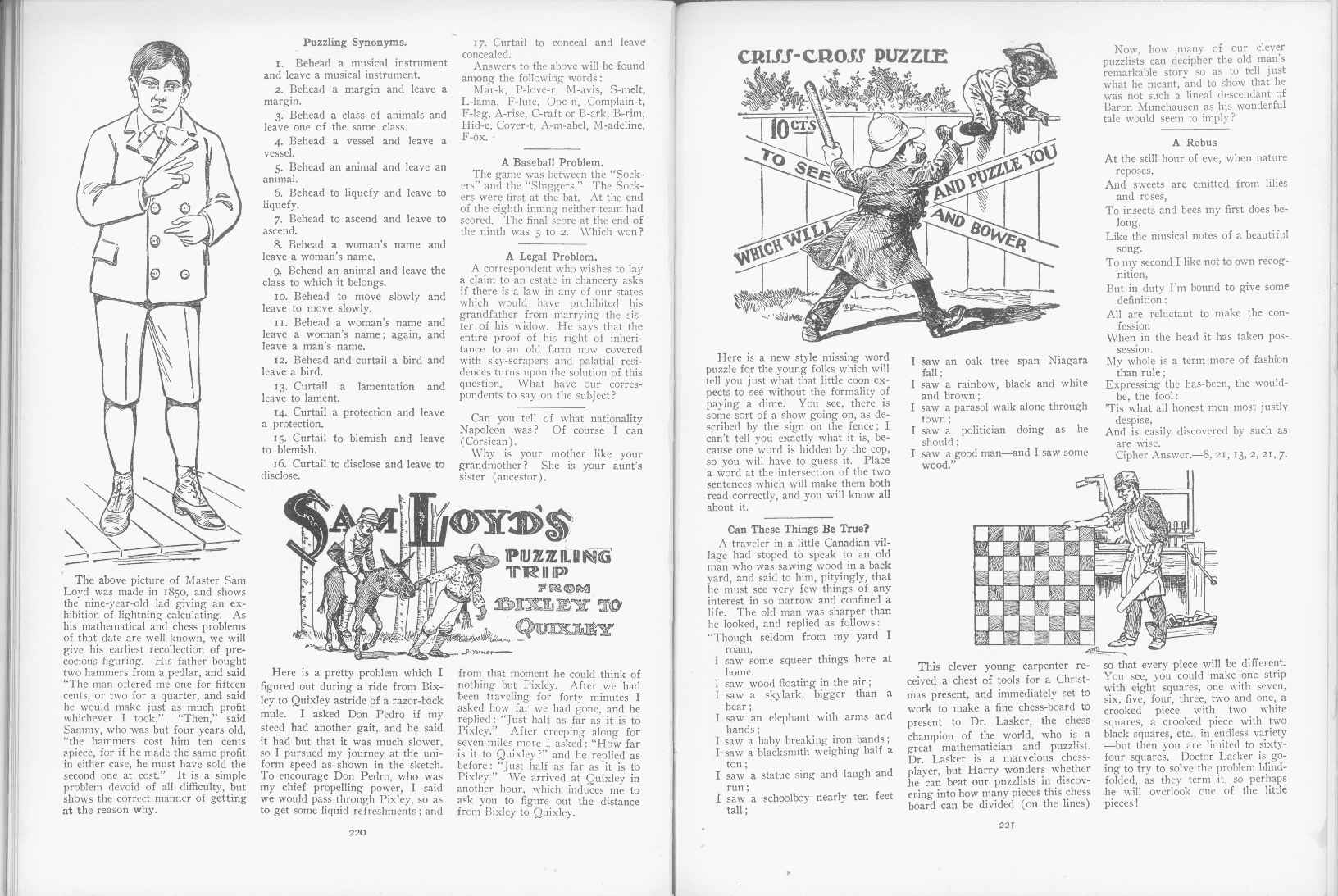 Sam Loyd - Cyclopedia of Puzzles - page 220-221