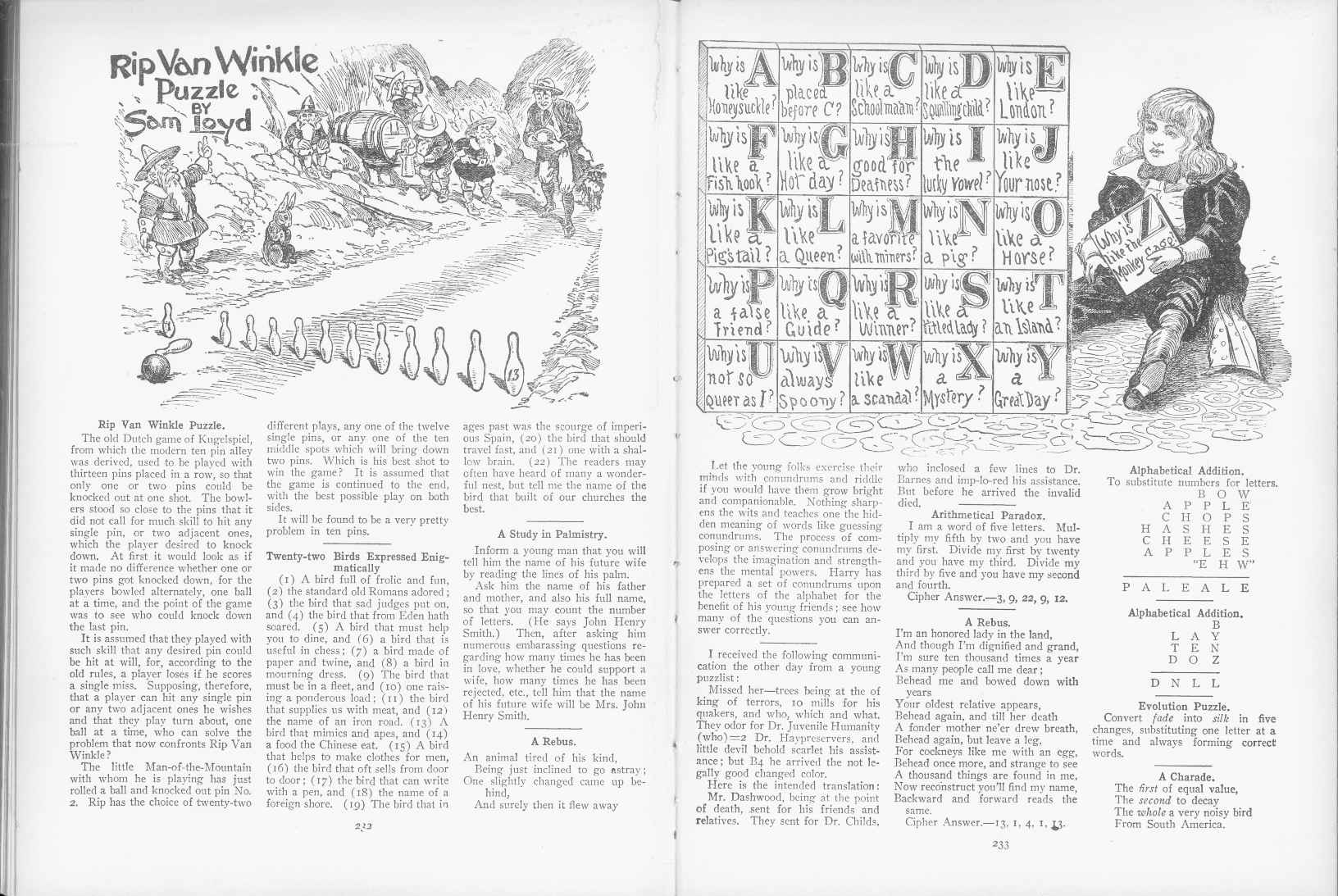 Sam Loyd - Cyclopedia of Puzzles - page 232-233