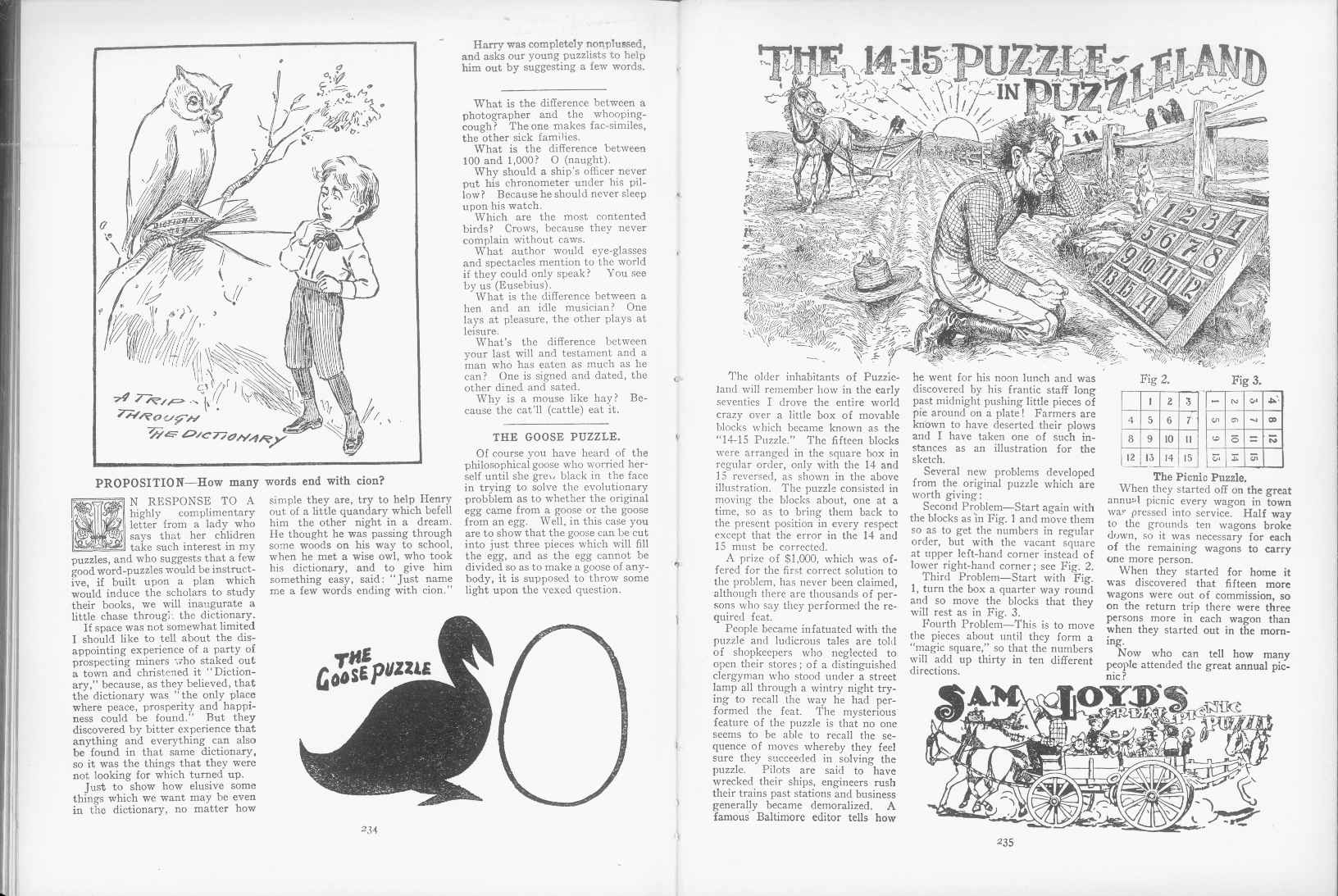 Sam Loyd - Cyclopedia of Puzzles - page 234-235