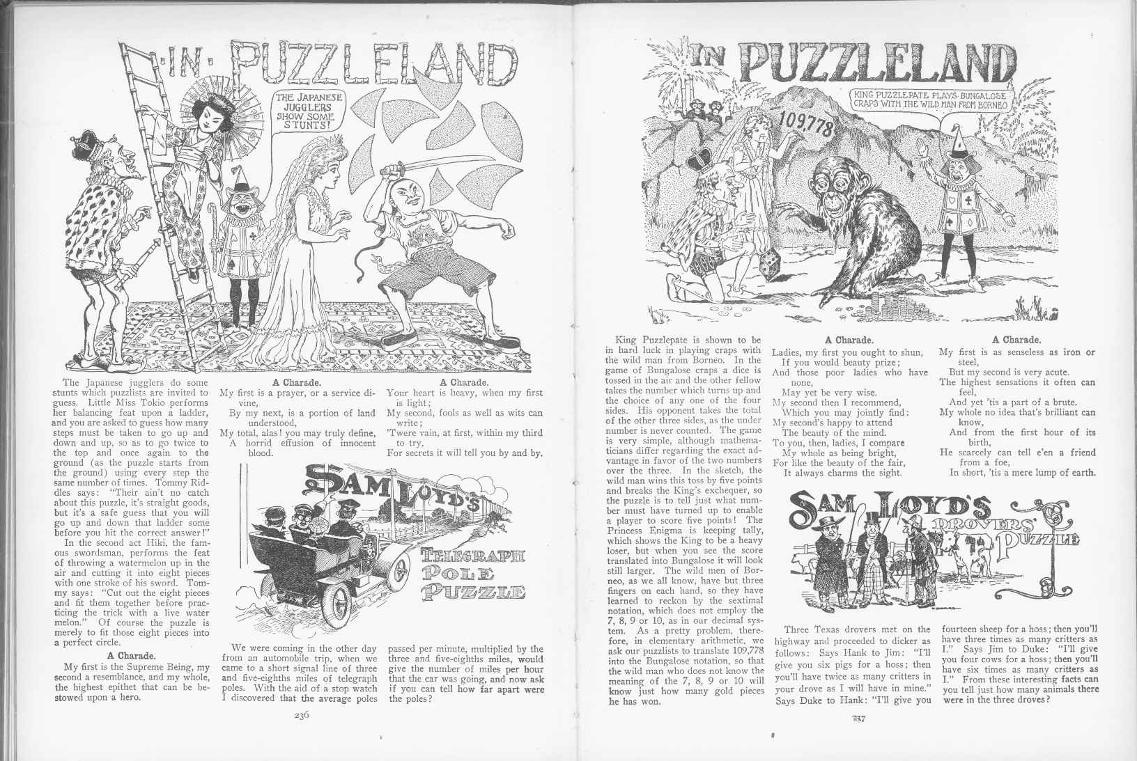 Sam Loyd - Cyclopedia of Puzzles - page 236-237
