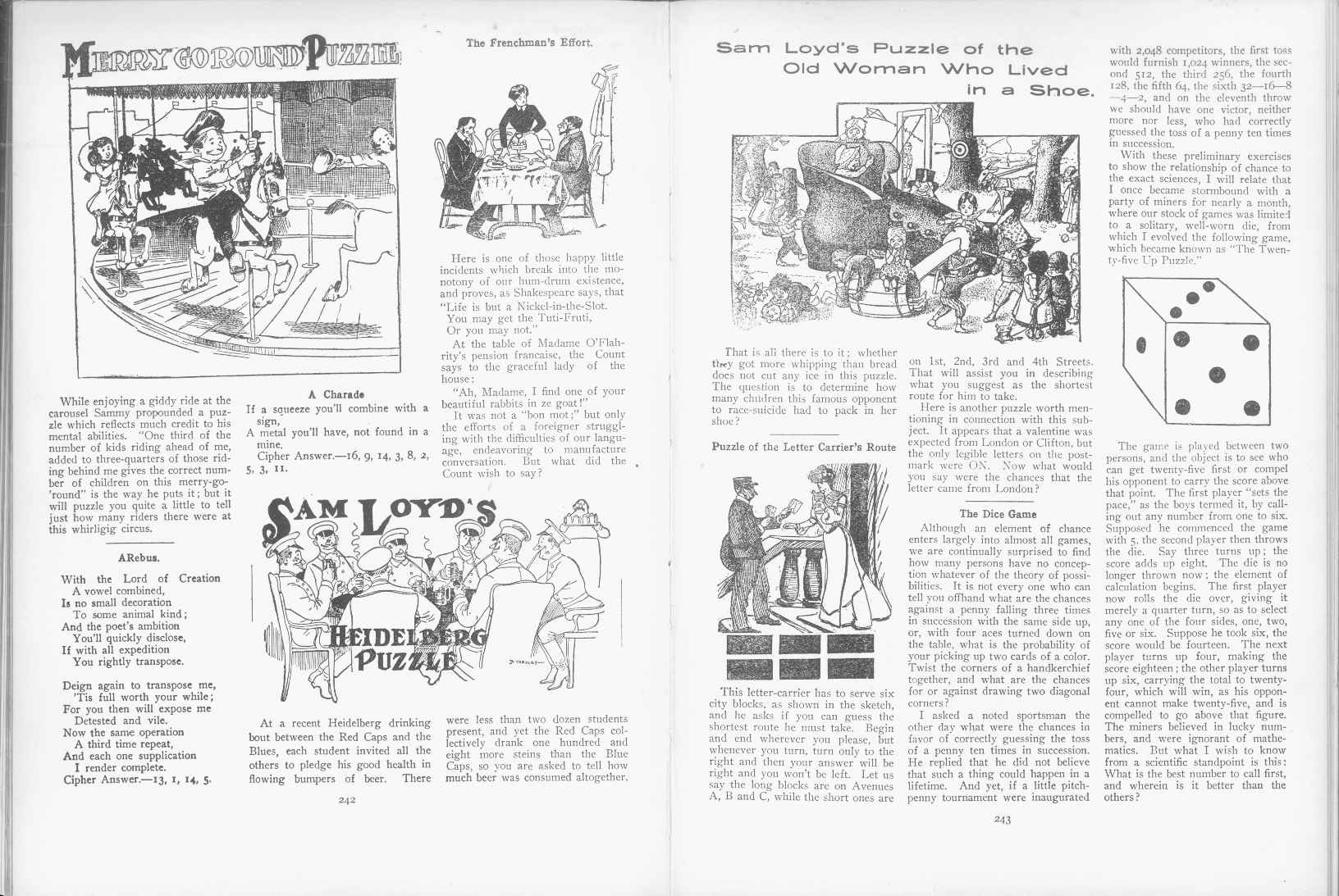 Sam Loyd - Cyclopedia of Puzzles - page 242-243