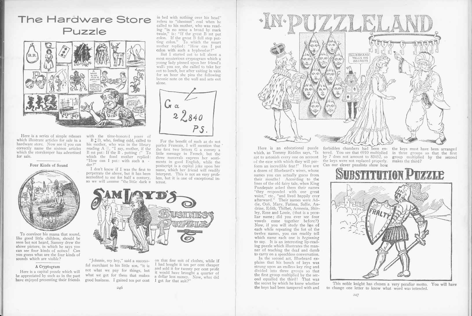 Sam Loyd - Cyclopedia of Puzzles - page 246-247