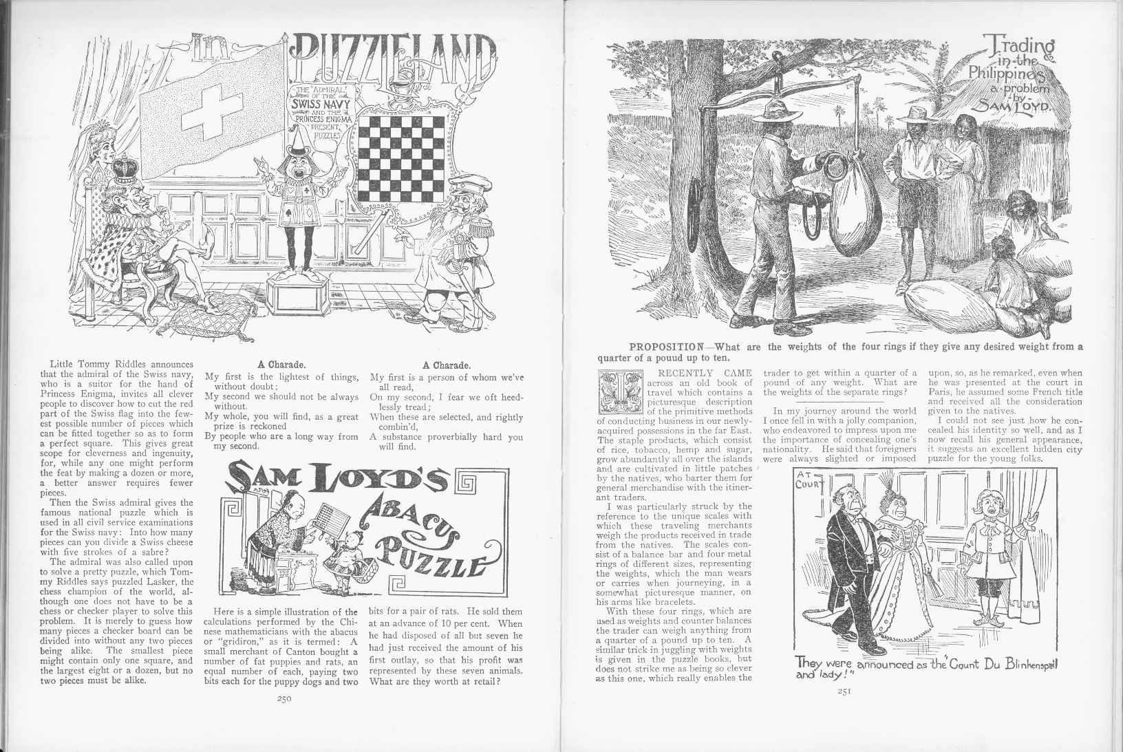 Sam Loyd - Cyclopedia of Puzzles - page 250-251