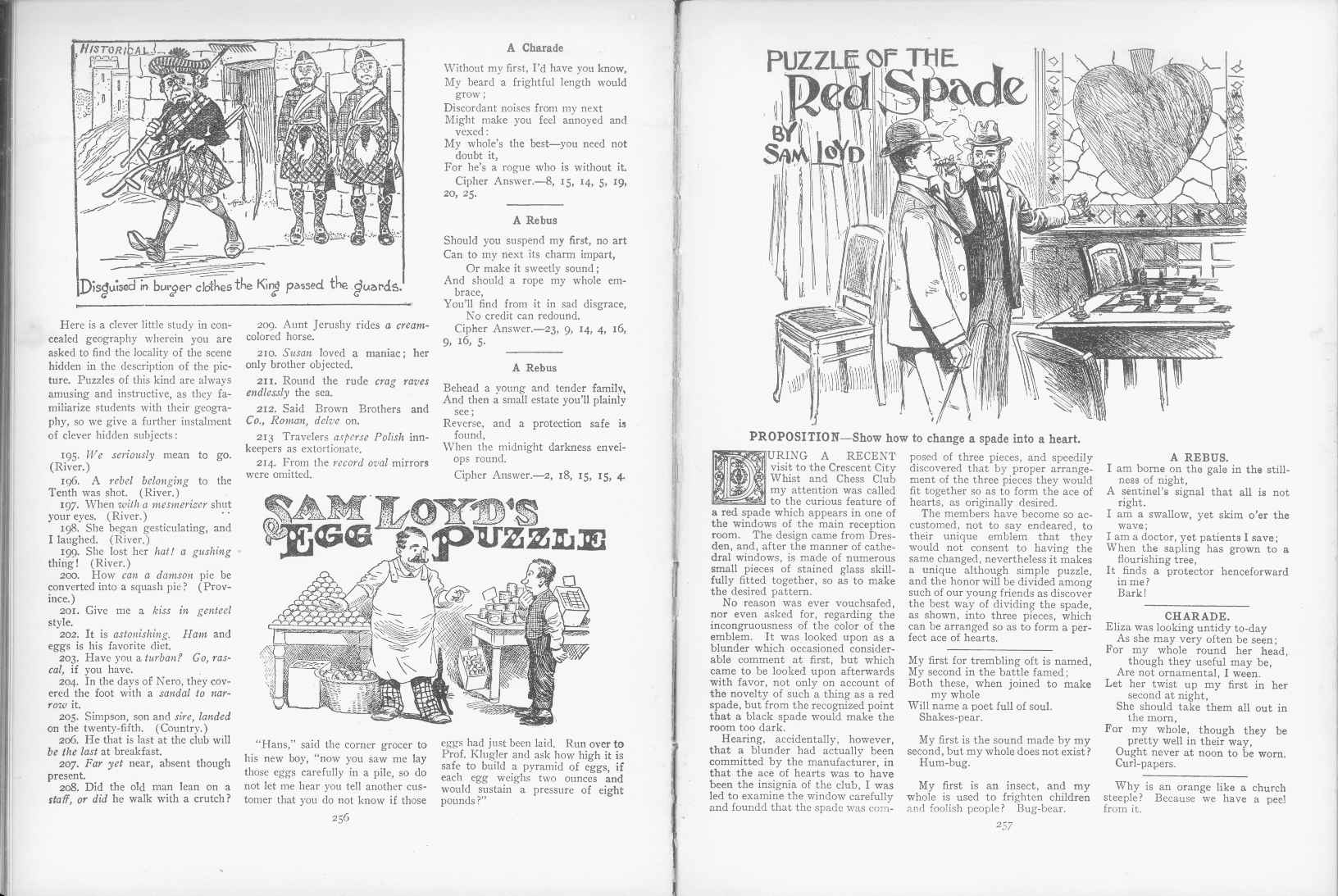 Sam Loyd - Cyclopedia of Puzzles - page 256-257