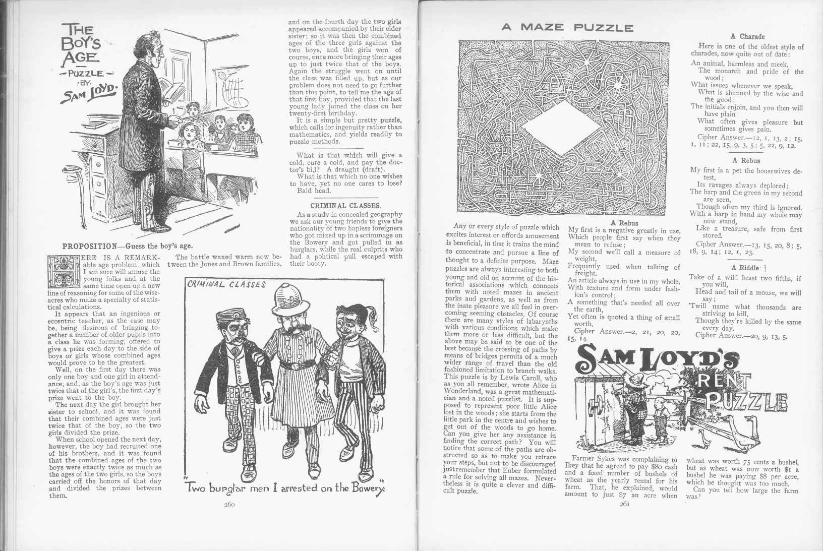 Sam Loyd - Cyclopedia of Puzzles - page 260-261