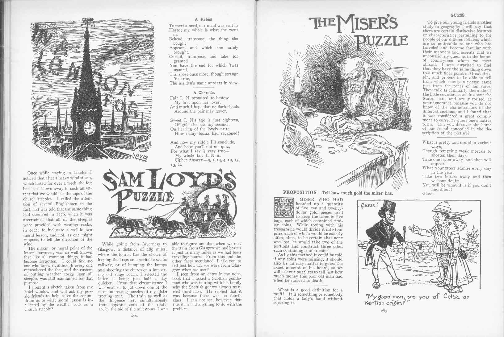 Sam Loyd - Cyclopedia of Puzzles - page 264-265