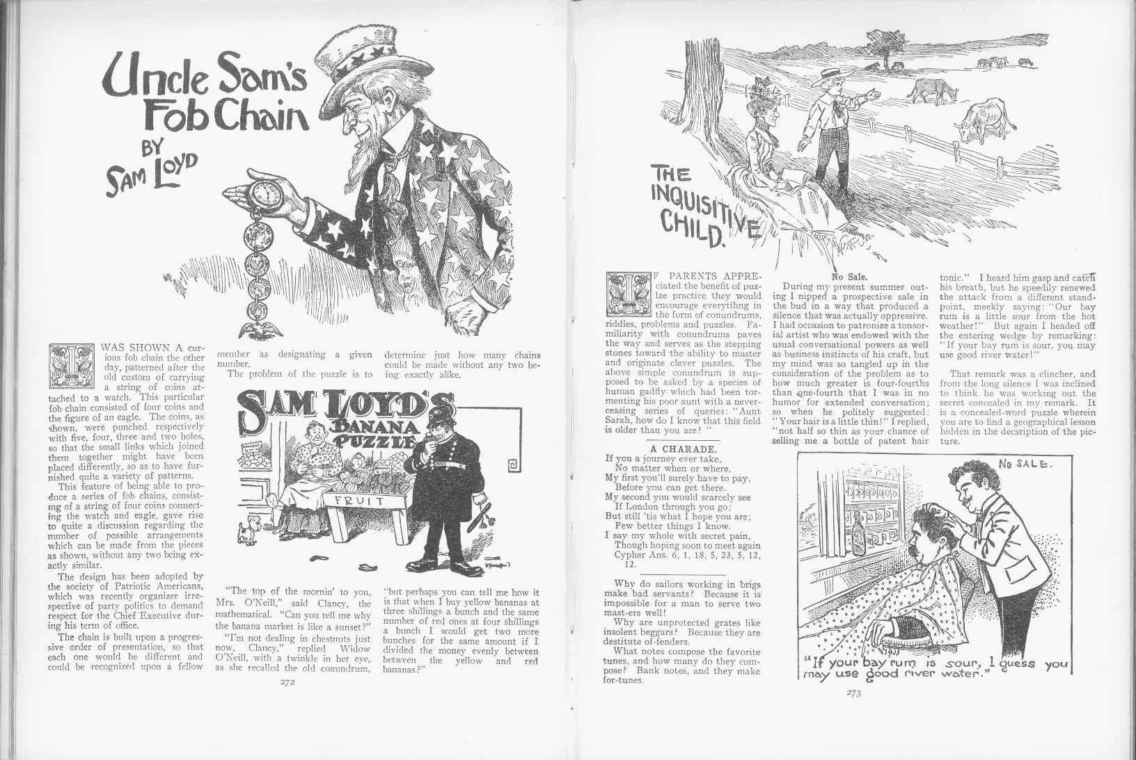 Sam Loyd - Cyclopedia of Puzzles - page 272-273