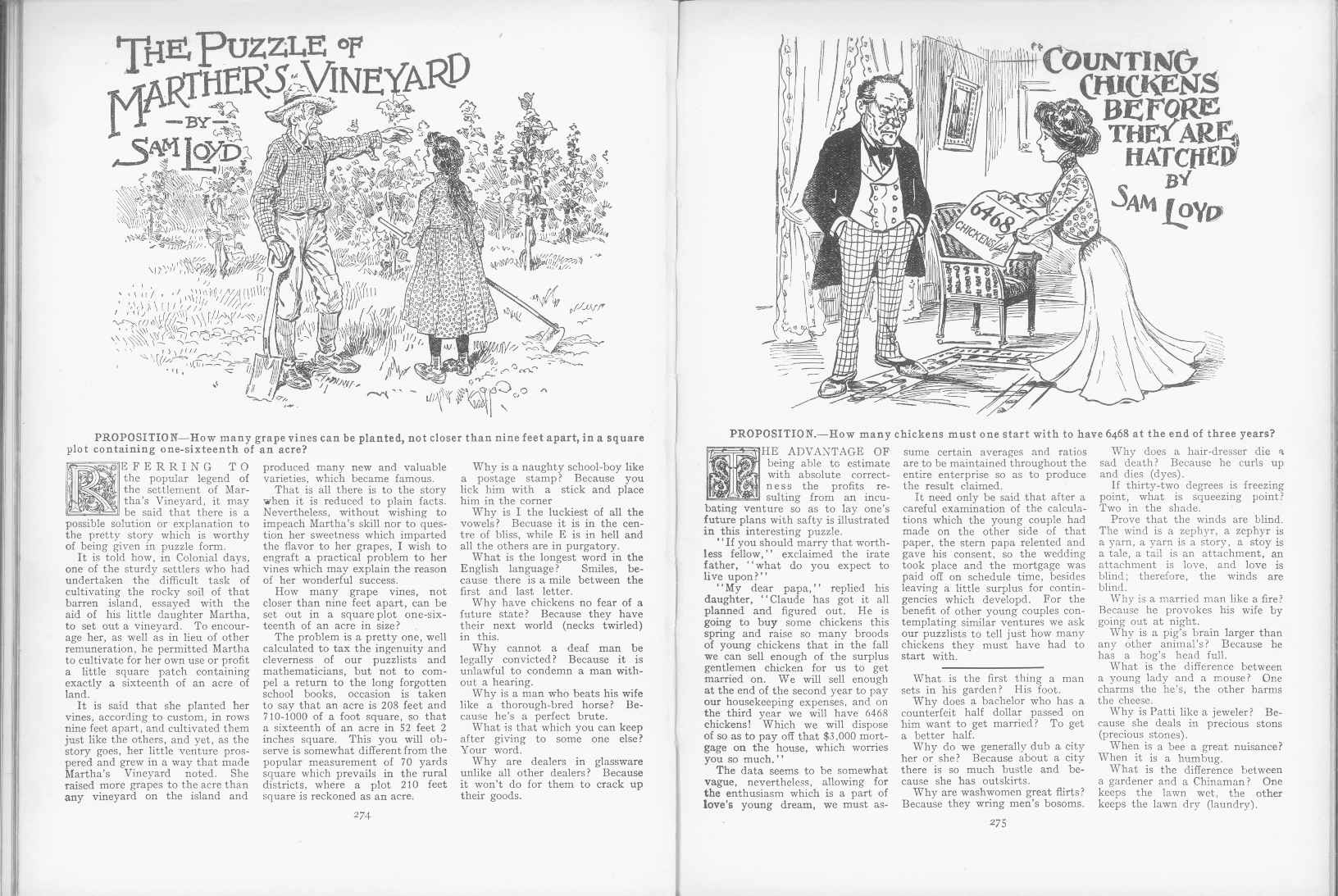 Sam Loyd - Cyclopedia of Puzzles - page 274-275