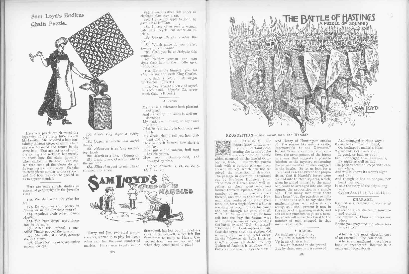 Sam Loyd - Cyclopedia of Puzzles - page 280-281