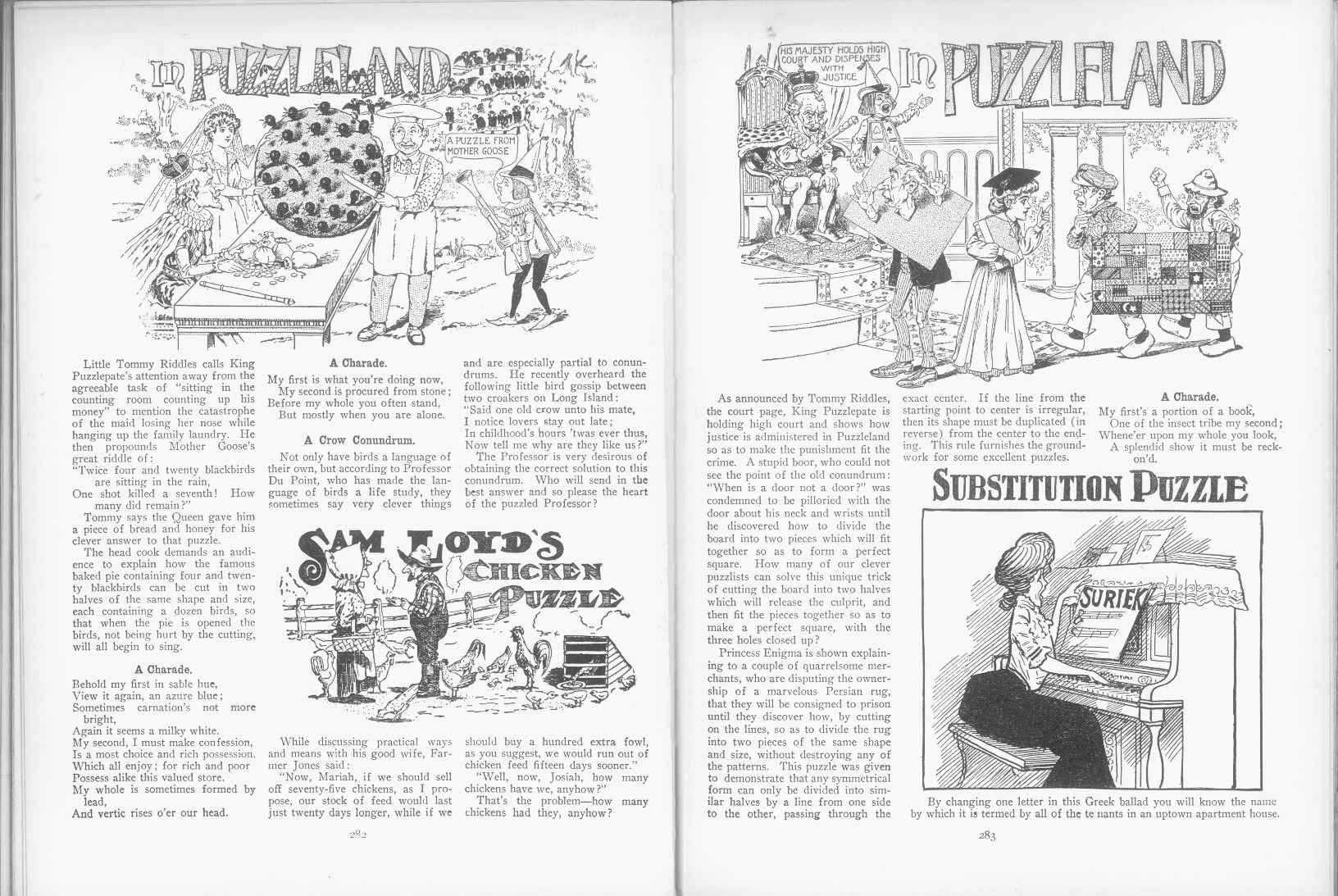 Sam Loyd - Cyclopedia of Puzzles - page 282-283