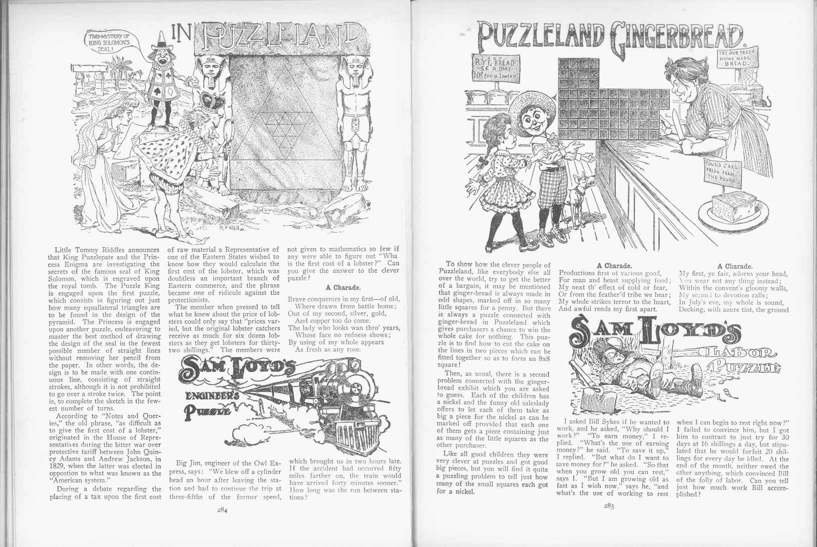 Sam Loyd - Cyclopedia of Puzzles - page 284-285
