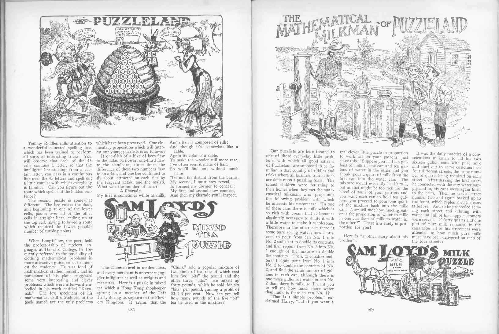 Sam Loyd - Cyclopedia of Puzzles - page 286-287