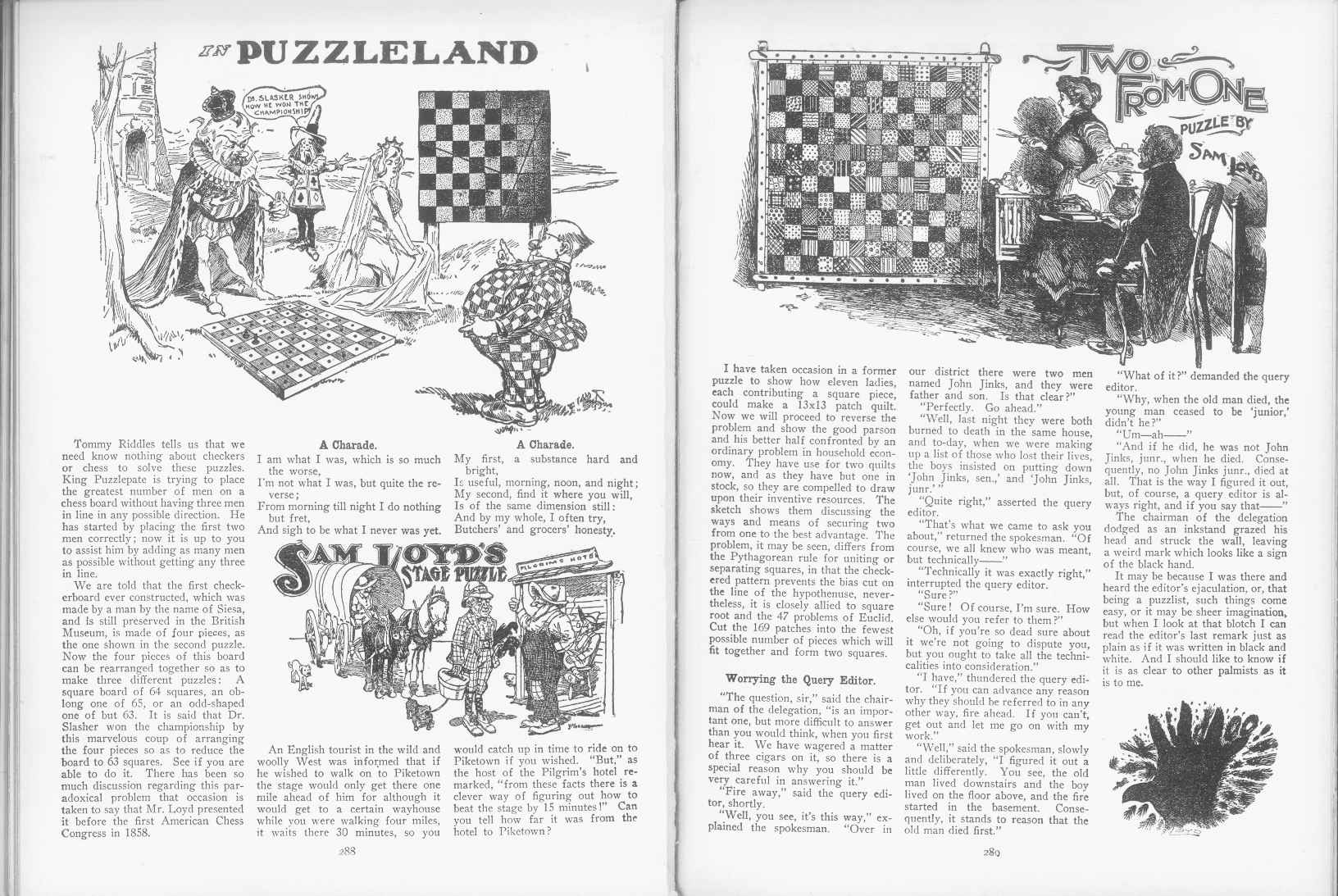 Sam Loyd - Cyclopedia of Puzzles - page 288-289