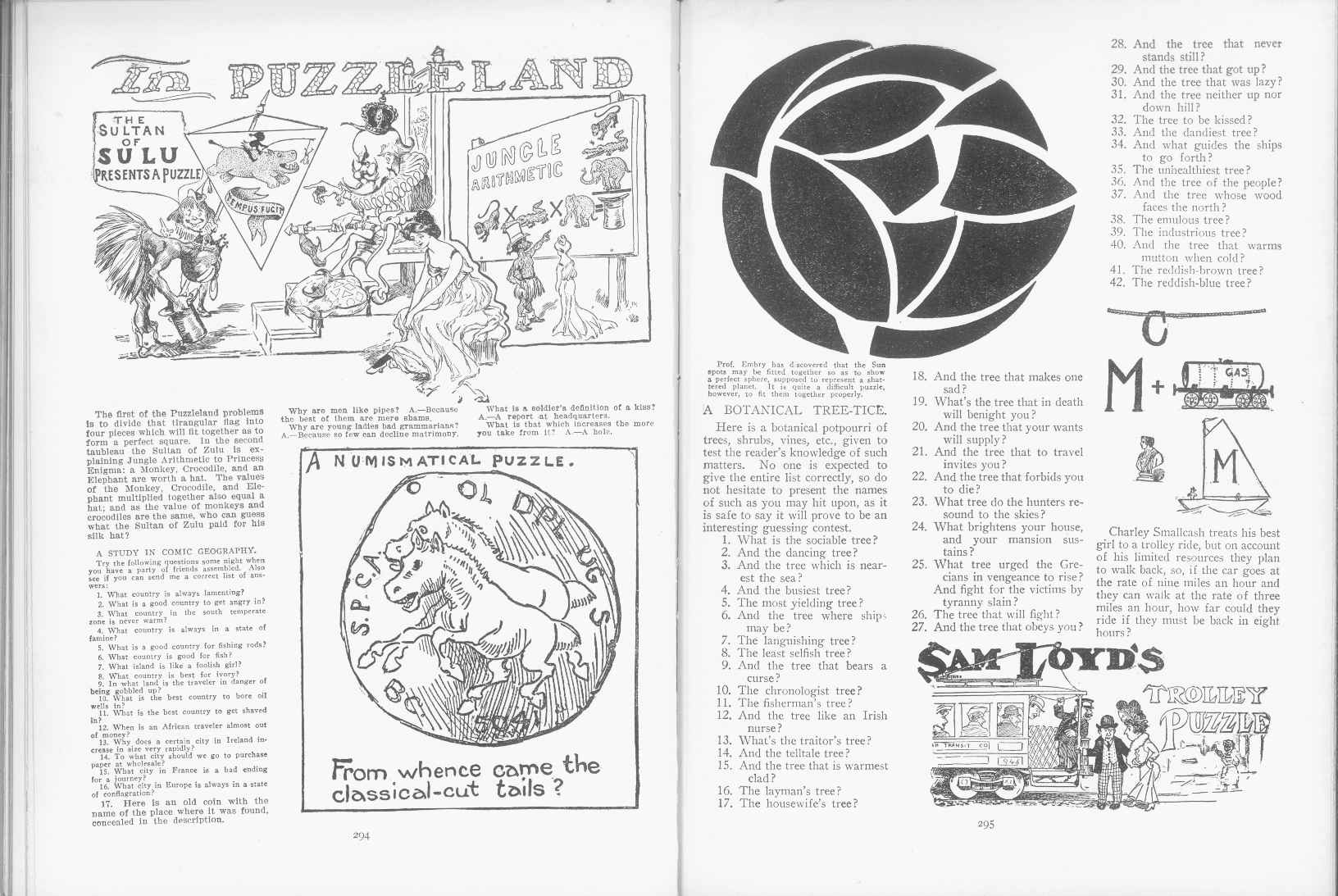 Sam Loyd - Cyclopedia of Puzzles - page 294-295