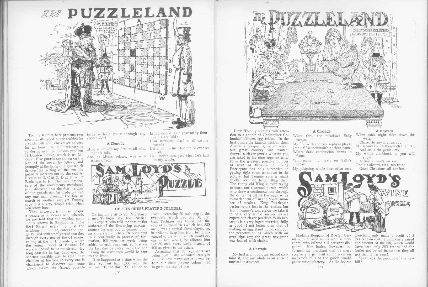Sam Loyd - Cyclopedia of Puzzles - page 300-301