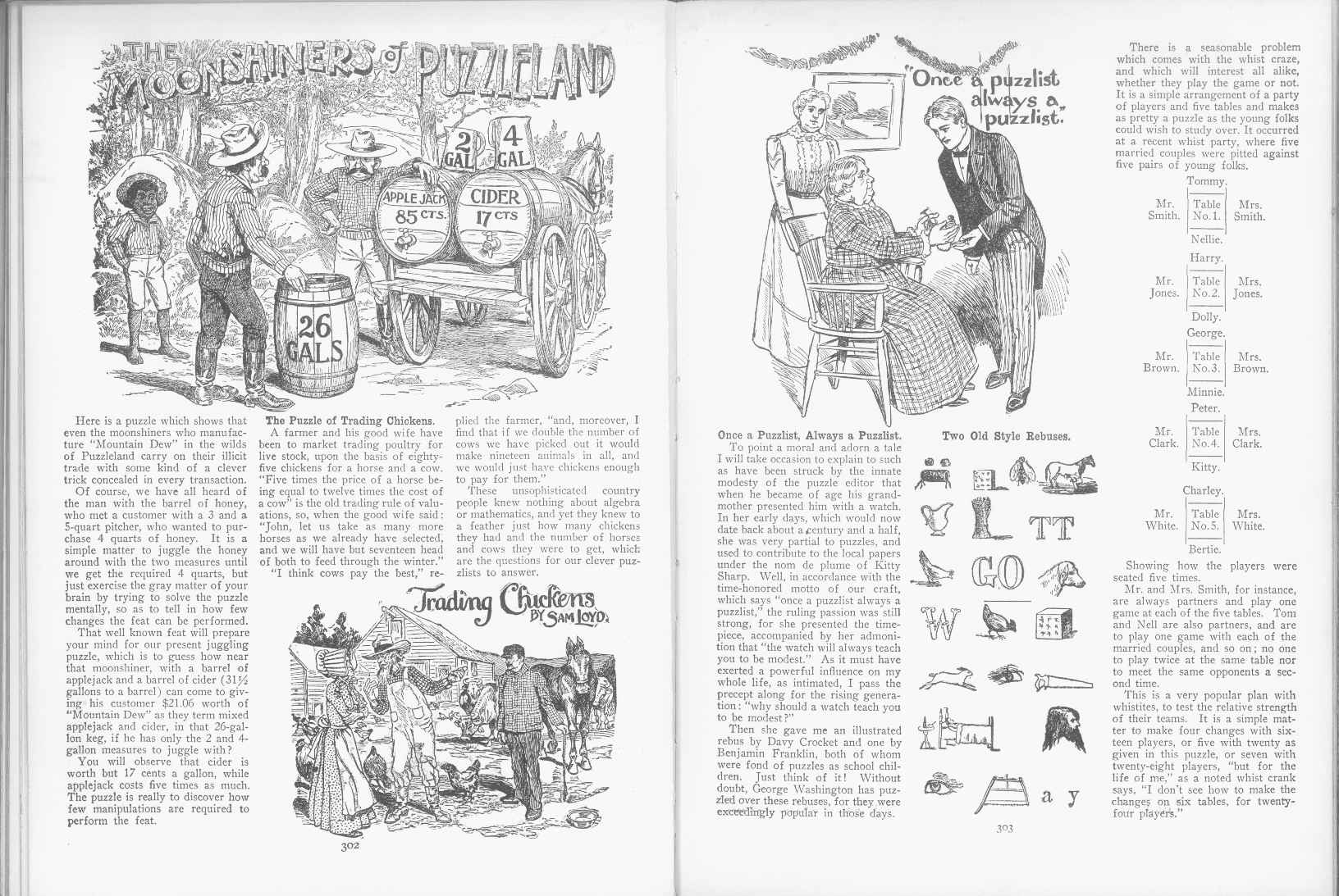 Sam Loyd - Cyclopedia of Puzzles - page 302-303