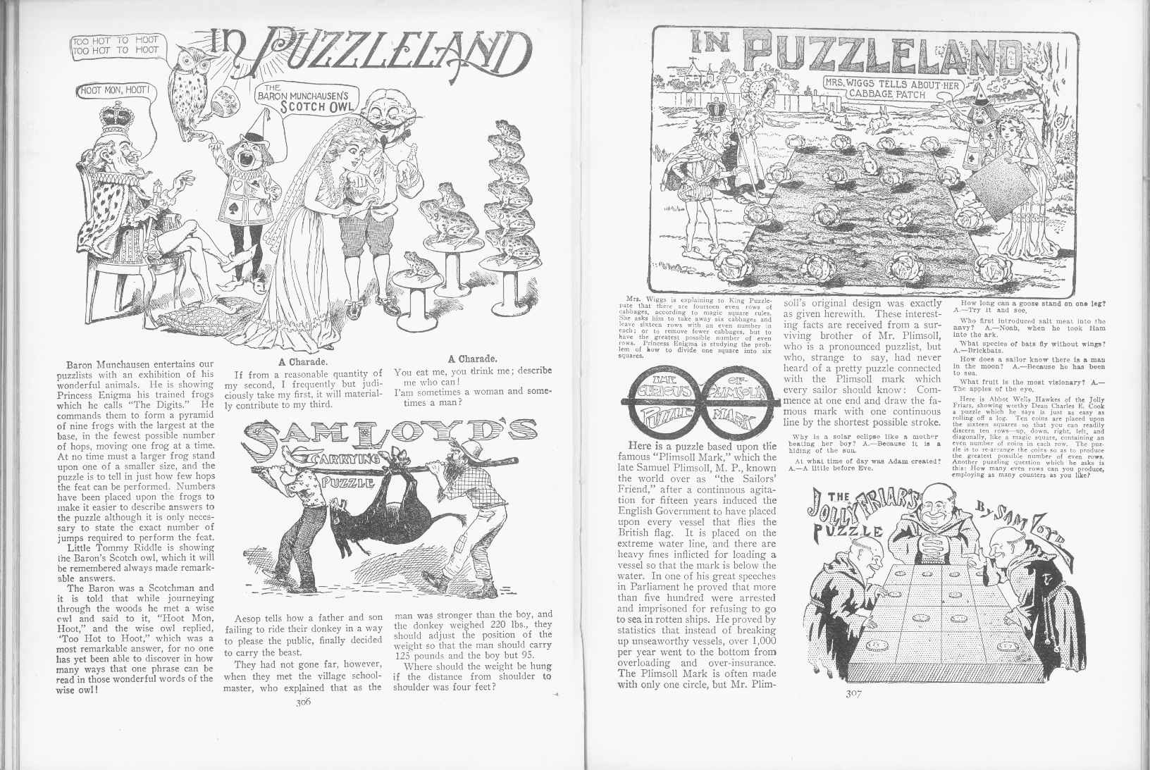Sam Loyd - Cyclopedia of Puzzles - page 306-307