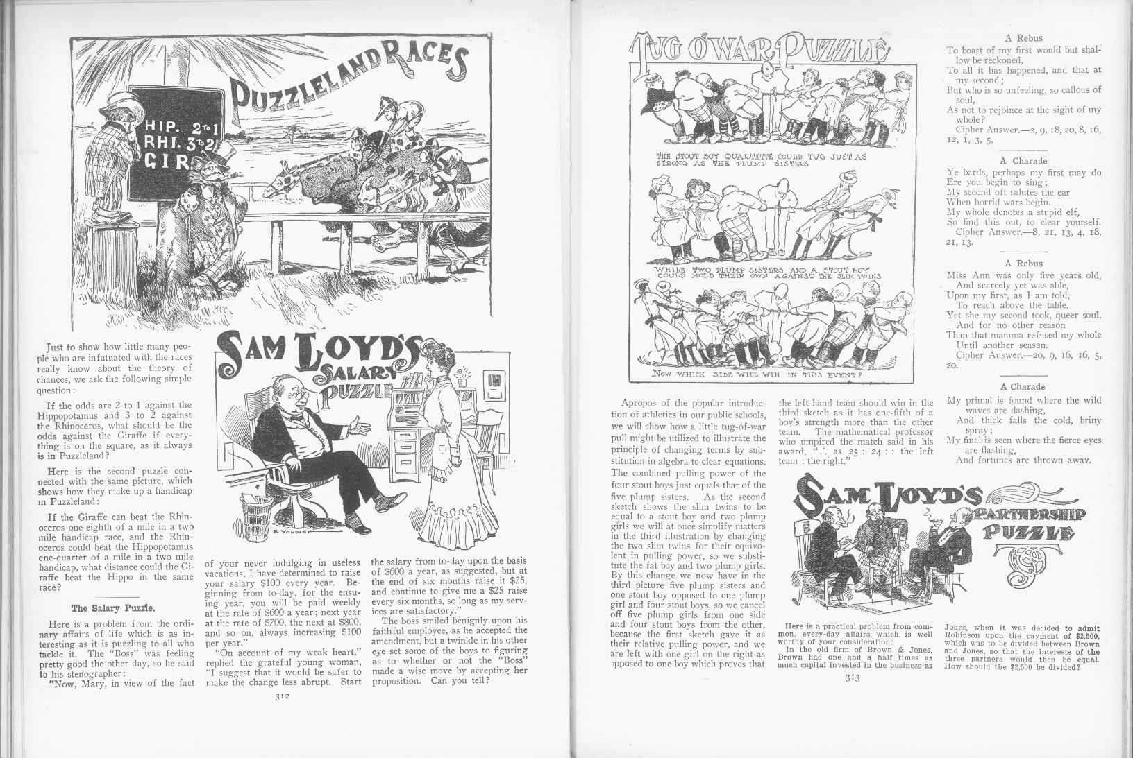 Sam Loyd - Cyclopedia of Puzzles - page 312-313