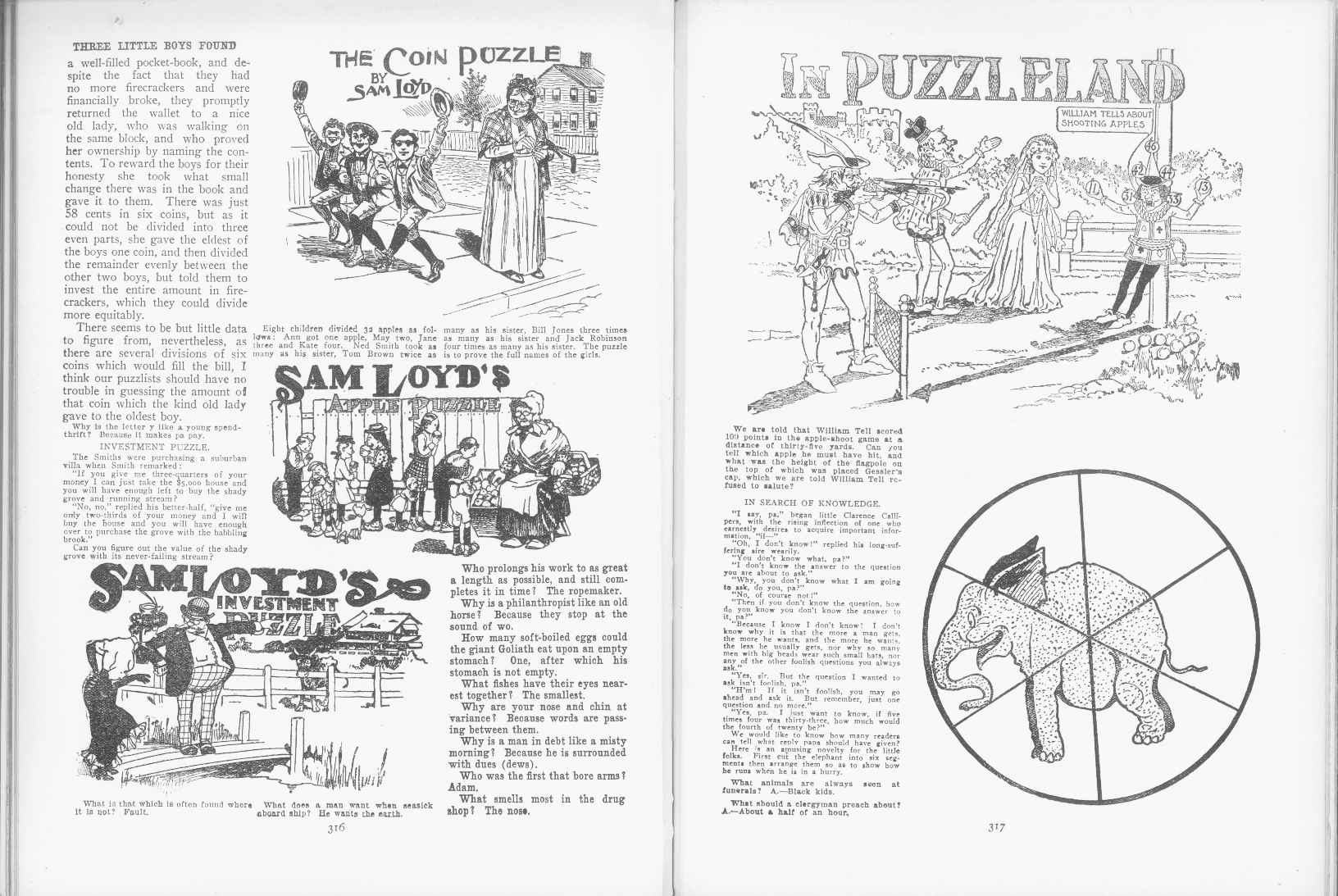 Sam Loyd - Cyclopedia of Puzzles - page 316-317