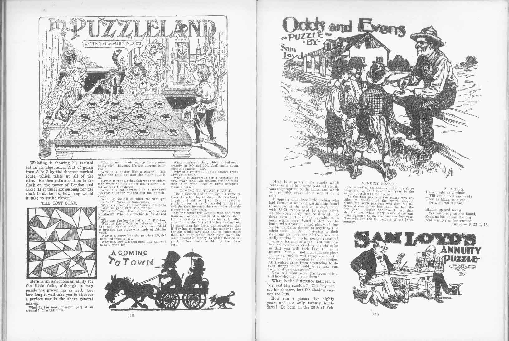 Sam Loyd - Cyclopedia of Puzzles - page 318-319