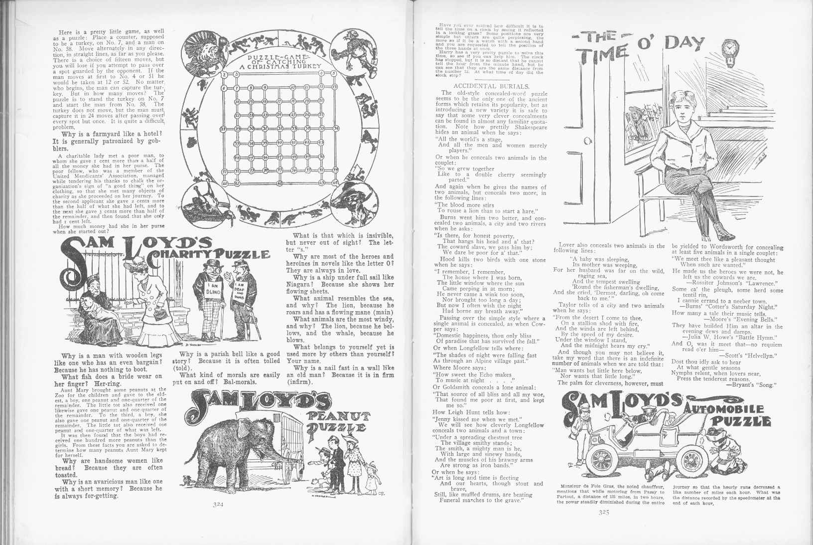 Sam Loyd - Cyclopedia of Puzzles - page 324-325