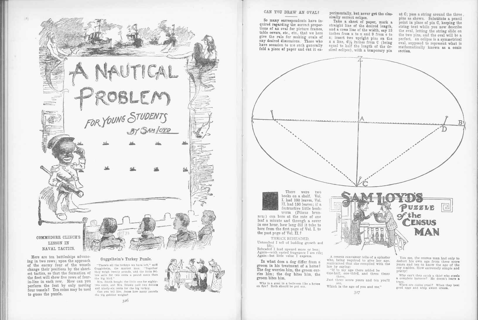 Sam Loyd - Cyclopedia of Puzzles - page 326-327