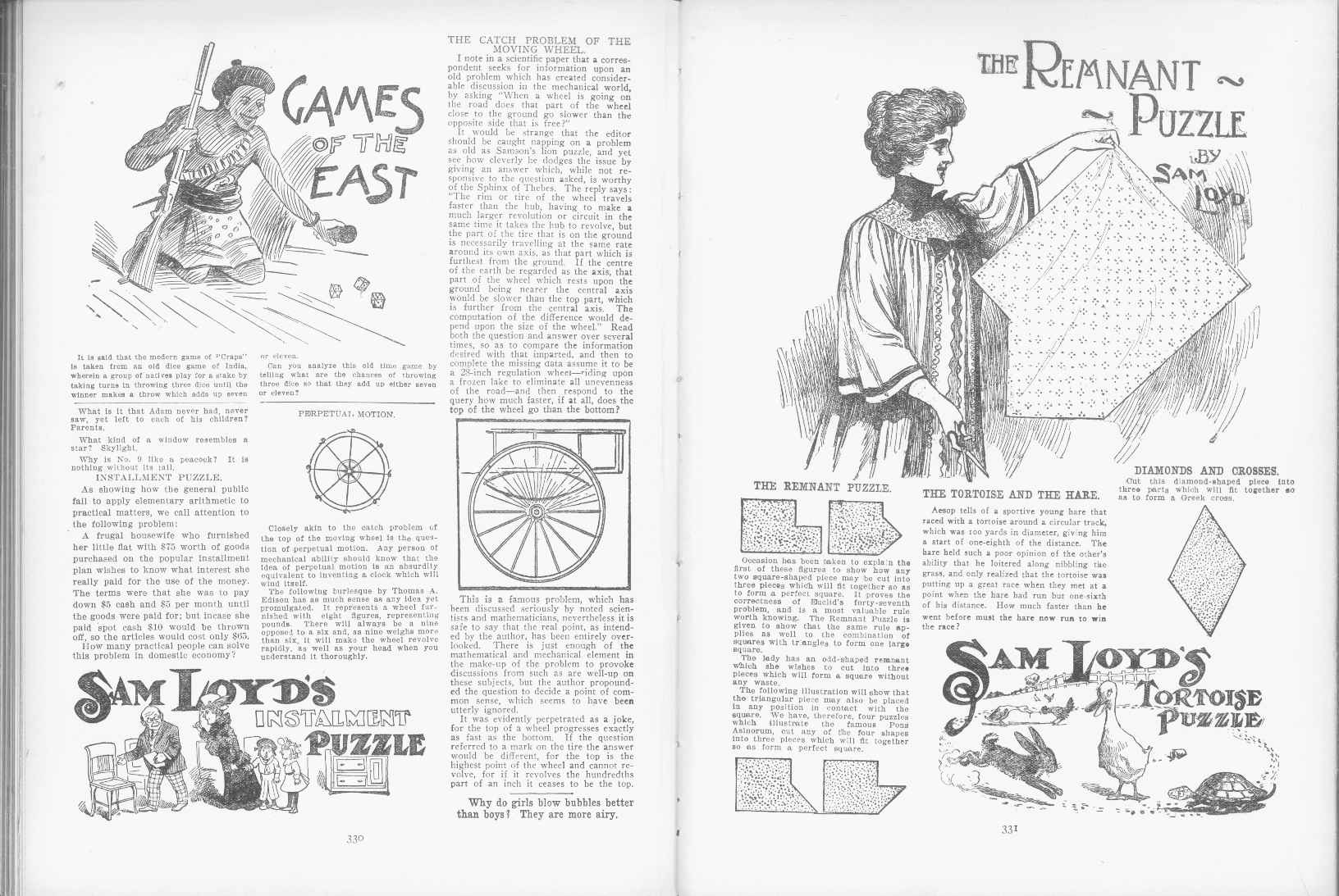 Sam Loyd - Cyclopedia of Puzzles - page 330-331