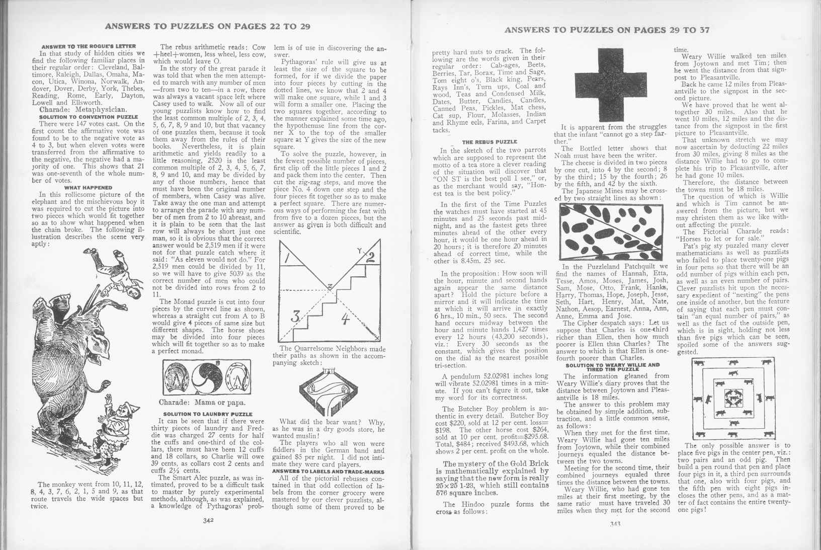Sam Loyd - Cyclopedia of Puzzles - page 342-343